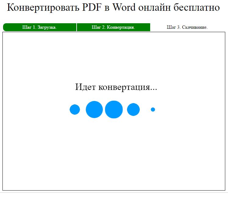 Процесс конвертации PDF в Word